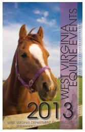 Equine Events - West Virginia Department of Agriculture