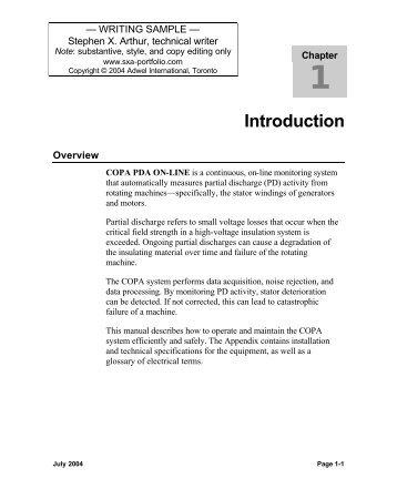 COPA Partial Discharge Analysis System - Sxa-portfolio.com