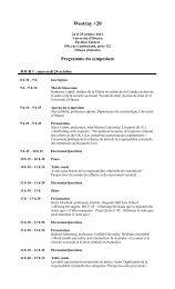 Programme - Section de droit civil - Université d'Ottawa