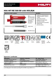 Hilti HIT-RE 500-SD with HIS-(R)N