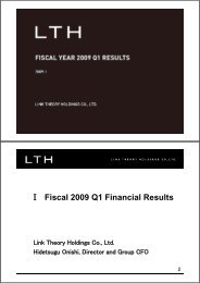 Fiscal Year 2009 1Q Results