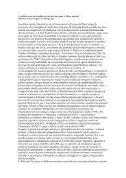 A política externa brasileira e sul-africana para a ... - Casa das Áfricas