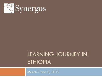 Presentation about Learning Journey (PDF) - Synergos