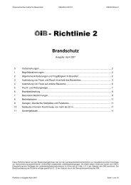 Brandschutz - OIB