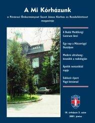A Mi Kórházunk: 2001. június ( III/3) - Szent János Kórház