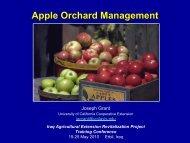 Apple Orchard Management Joseph Grant University
