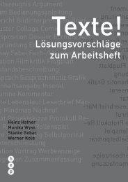 Lösungsvorschläge zum Arbeitsheft - h.e.p. verlag ag, Bern