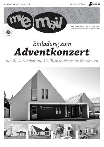 Adventkonzert - Musikverein des Gemeindeverbandes Ehrenhausen