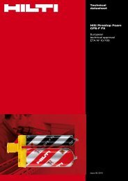 Technical datasheet Hilti Firestop Foam CFS-F FX European ...