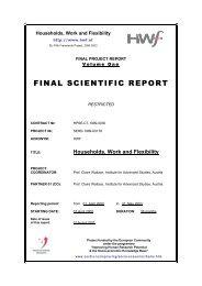 FINAL SCIENTIFIC REPORT - HWF
