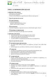 TEMA 5. LA REPRODUCCIÓN CELULAR - Biología El Valle