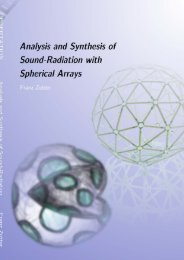 Analysis And Synthesis Of Sound-Radiation With Spherical ... - iaem