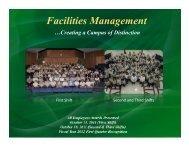 October 2011 - Facilities Management