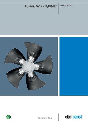 AC axial fans - HyBlade® [PDF] - ebm-papst AB
