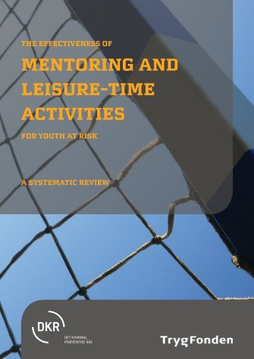 Mentoring and Leisure-Time Activities - European Crime Prevention ...