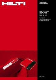 Technical Data Sheet Hilti Firestop Wrap strip ... - Hilti Danmark A/S