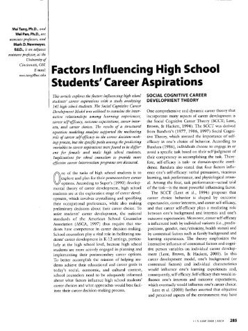 report for influencing factors of students Factors influencing high nationally than the characteristics of those students, and the factors that improve their factors influecing high school graduation.