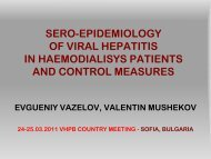 Sero-epidemiology of viral hepatitis in haemodialisys patients and ...