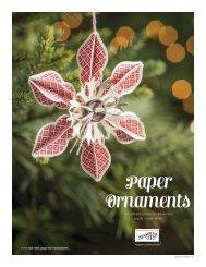 Paper Ornament Tutorial - Julie's Stamping Spot