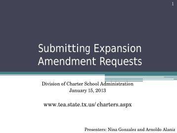Charter School Webinar - Texas Education Agency
