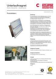 Unterlaufmagnet - Eclipse Magnetics