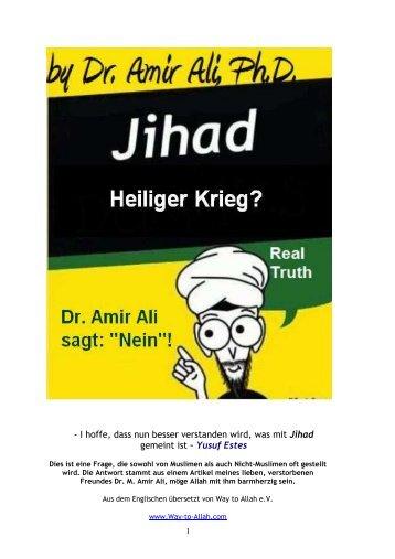 Jihad: Was versteht man darunter? - Way to Allah
