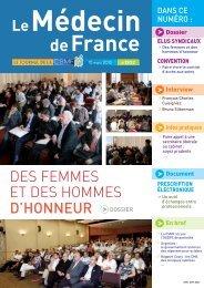 Médecin de France I n° 1202 I 15 MARS 2013 - CSMF