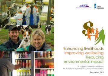 Dairy Industry Sustainability Framework_Final Dec 2012