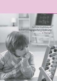 Fachliche Empfehlungen zur sonderpädagogischen Förderung