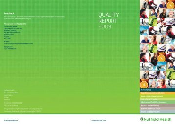Quality Report 2009 - Nuffield Health
