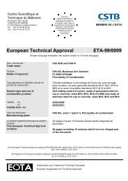 European Technical Approval ETA-99/0009