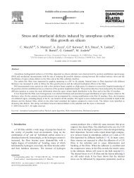 Stress and interfacial defects induced by amorphous carbon film ...