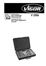 V2306 SAC Kupplungs-Werkzeug-Satz - Vigor Equipment
