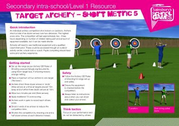 Target Archery - Short Metric 5 - School Games
