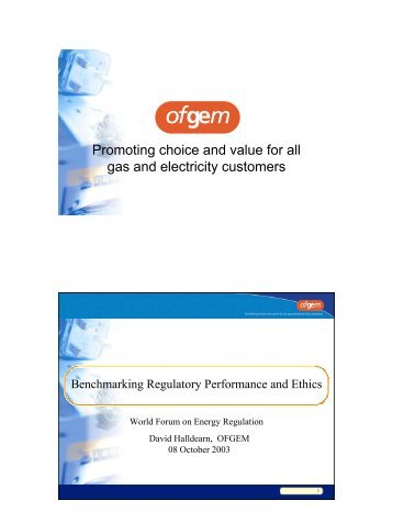 Promoting choice and value for all gas and electricity customers