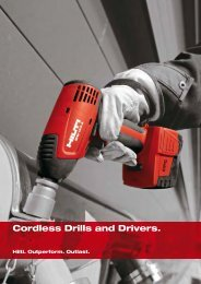 Cordless Drills and Drivers. - Hilti