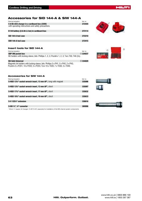 SID 144-A 14 4V cordless