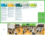 Activity programme descriptions - Nuffield Health