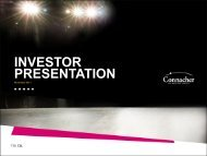 INVESTOR PRESENTATION - Connacher Oil and Gas