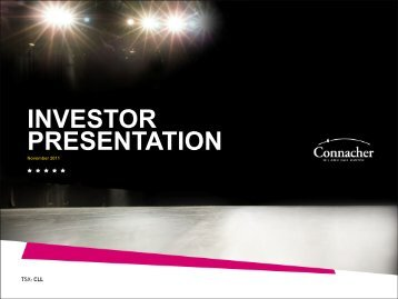 INVESTOR PRESENTATION - Connacher Oil and Gas