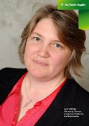 Laura Kerby Managing Director, Consumer Wellbeing, Nuffield Health