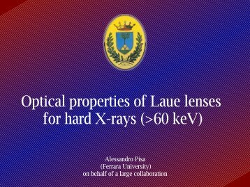 Optical properties of Laue lenses for hard X-rays (>60 keV) - Cesr
