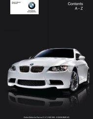 2009 M3 Owner's Manual - Irvine BMW