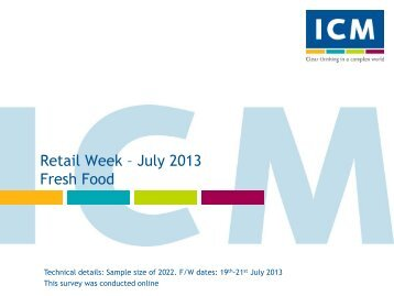 Retail Week Poll- Fresh Foods - ICM Research