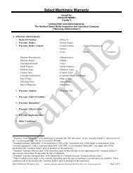 Select Machinery Warranty - Hartford Steam Boiler