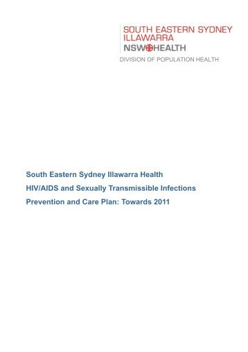 HIV/AIDS and STI Prevention and Care Plan - Healthy Cities Illawarra