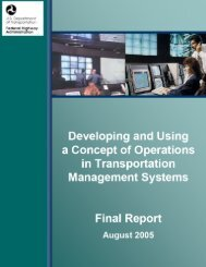 Developing and Using the Concept of Operations in - (TMC) Pooled ...