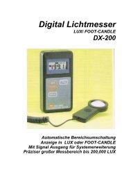 ILLUMINATION METER - T&D Messtechnik GmbH