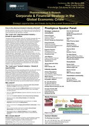 Corporate & Financial Strategy in the Global Economic Crisis