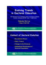 Evolving Trends in Doctoral Education